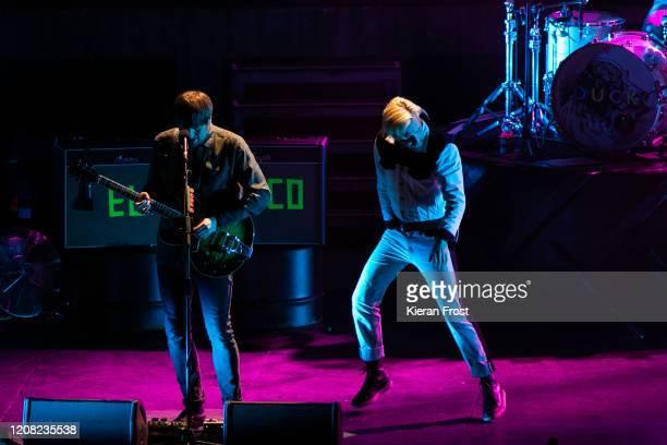 Andrew White and Ricky Wilson of Kaiser Chiefs perform at 3Arena Dublin on February 23 2020 in Dublin Dublin