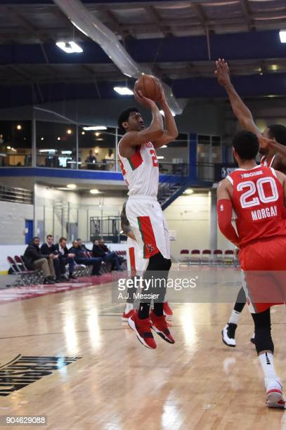 Andrew White of the Maine Red Claws shoots the ball during the NBA GLeague Showcase Game 25 between the Memphis Hustle and the Maine Red Claws on...