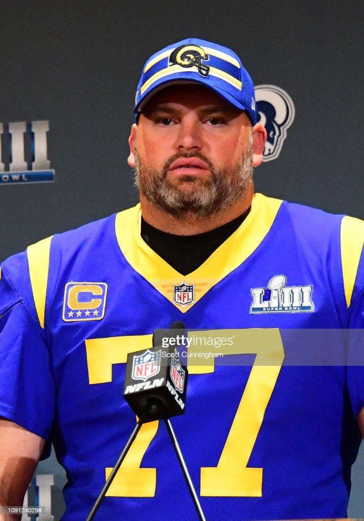 Super Bowl LIII - Media Availability - Los Angeles Rams : ニュース写真