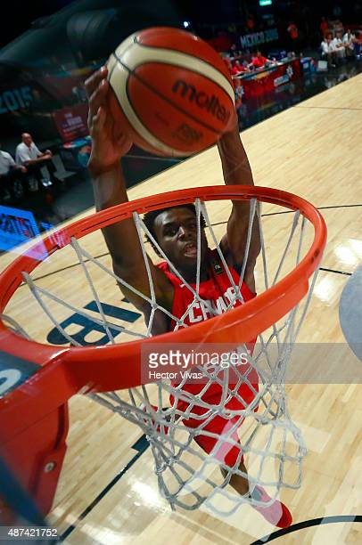 Andrew Wiggins of Canada dunks the ball during a second stage match between Dominican Republic and Canada as part of the 2015 FIBA Americas...