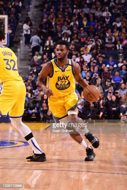 Andrew Wiggins of the Golden State Warriors drives to the basket against the Philadelphia 76ers on March 7, 2020 at Chase Center in San Francisco,...