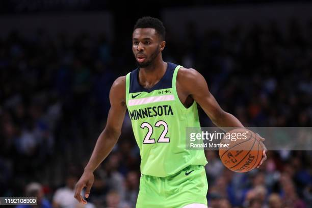 Andrew Wiggins of the Minnesota Timberwolves at American Airlines Center on December 04 2019 in Dallas Texas NOTE TO USER User expressly acknowledges...