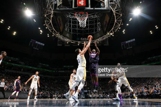 Andrew Wiggins of the Minnesota Timberwolves shoots the ball against the Golden State Warriors on March 19 2019 at Target Center in Minneapolis...