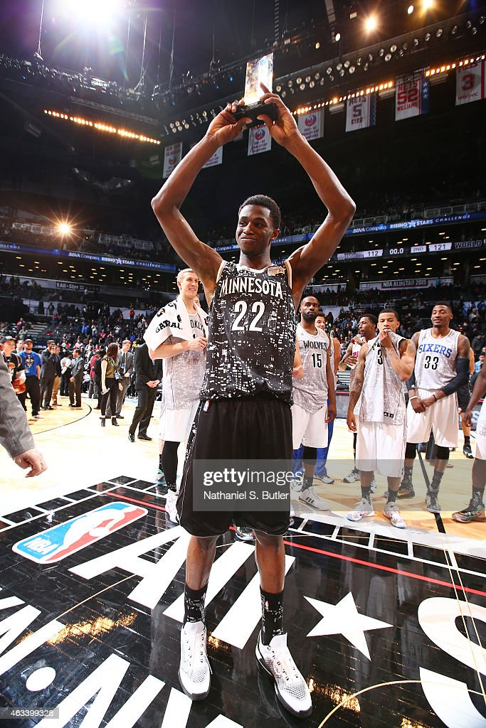 Andrew Wiggins of the World Team is awarded the BBVA Compass Rising ... 899c231c8