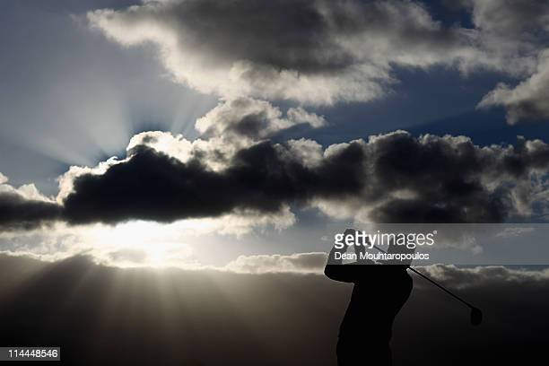 Andrew Willey of England tees of the 1st hole during day two of the Madeira Islands Open on May 20 2011 in Porto Santo Island Portugal