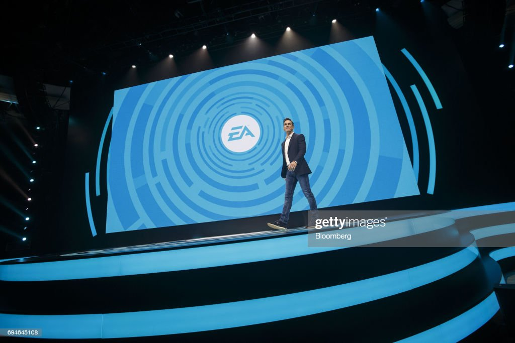Andrew Wilson, chief executive officer of Electronic Arts Inc. (EA), arrives on stage to speak during the company's EA Play event ahead of the E3 Electronic Entertainment Expo in Los Angeles, California, U.S., on Saturday, June 10, 2017. EA revealed two new titles along with the annual iterations of the company's sports games, as well as unveiling the highly anticipated 'Star Wars: Battlefront II' open-world multiplayer gameplay. Photographer: Patrick T. Fallon/Bloomberg via Getty Images