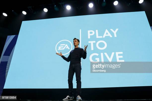 Andrew Wilson chief executive officer of Electronic Arts Inc speaks during the company's EA Play event ahead of the E3 Electronic Entertainment Expo...
