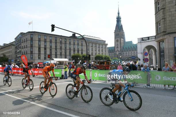 Andrew Winner Anacona of Colombia and Movistar Team / Ivan Garcia Cortina of Spain and Bahrain Merida Pro Team / Alessandro De Marchi of Italy and...
