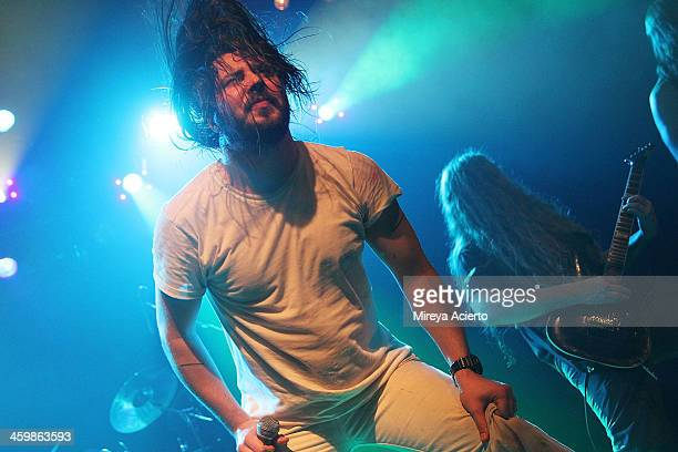 Andrew WK and his band perform at 'Get Wet' a New Years Eve party at Irving Plaza on December 31 2013 in New York City