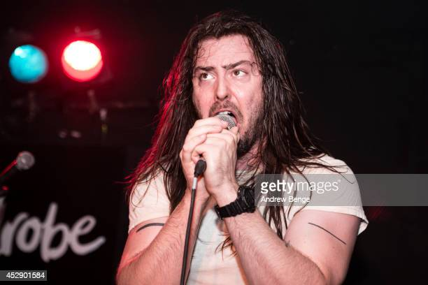 Andrew WK performs on stage at The Wardrobe on July 29 2014 in Leeds United Kingdom