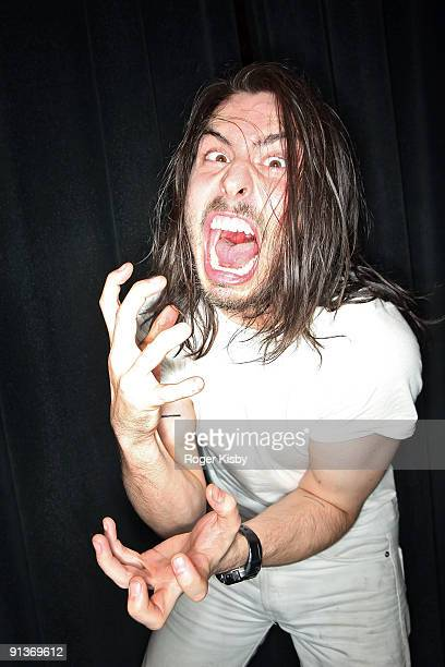 Andrew WK poses for a portrait backstage after his performance at Joe's Pub on October 2 2009 in New York City