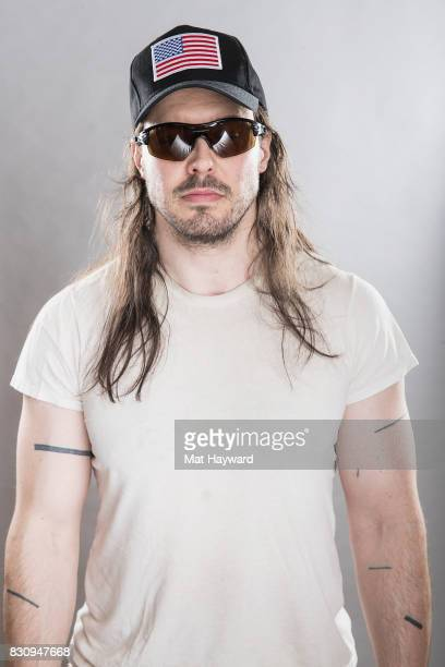 Andrew WK poses for a portrait backstage during the Summer Camp Music Festival hosted by 1077 The End at Marymoor Park on August 12 2017 in Redmond...