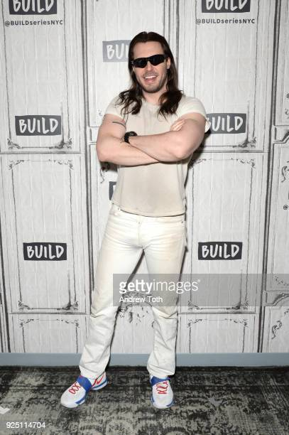Andrew WK visits Build to discuss his album 'You're Not Alone' at Build Studio on February 27 2018 in New York City
