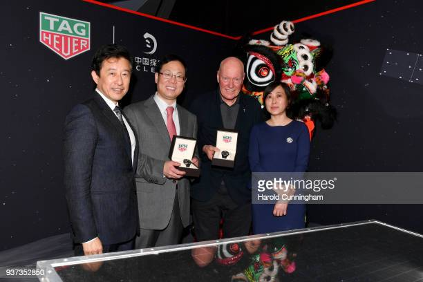 Andrew Wu LVMH Group Greater China President Xu Xingli General Manager at Chang'E Aerospace Technology LLC JeanClaude Biver TAG Heuer CEO and...