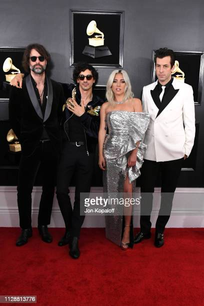Andrew Wyatt Anthony Rossomando Lady Gaga and Mark Ronson attend the 61st Annual GRAMMY Awards at Staples Center on February 10 2019 in Los Angeles...
