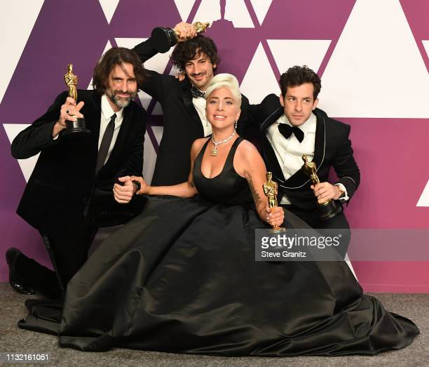 Andrew Wyatt Anthony Rossomando Lady Gaga and Mark Ronson poses at the 91st Annual Academy Awards at Hollywood and Highland on February 24 2019 in...