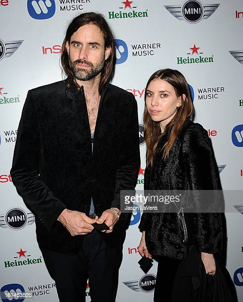 Andrew Wyatt of Miike Snow and Lykke Li attend the Warner Music Group 2013 Grammy celebration at Chateau Marmont on February 10 2013 in Los Angeles...