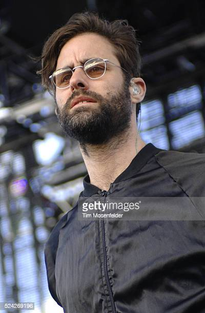 Andrew Wyatt of Miike Snow performs as part of Day One of the Sasquatch Music Festival at the Gorge Amphitheatre in Quincy Washington