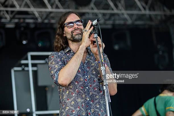 Andrew Wyatt of Miike Snow performs at the Hangout Music Festival on May 21 2016 in Gulf Shores Alabama