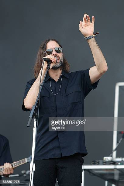 Andrew Wyatt of Miike Snow performs during the 2016 Austin City Limits Music Festival second weekend at Zilker Park on October 7 2016 in Austin Texas