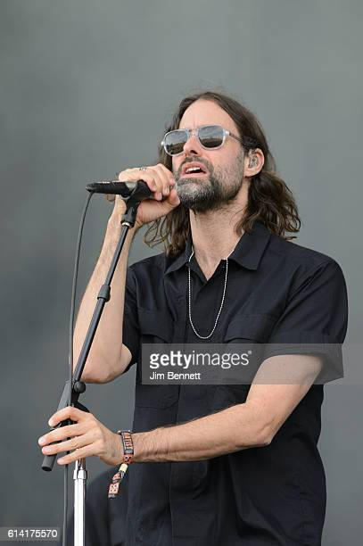Andrew Wyatt of Miike Snow performs live at Austin City Limits Festival at Zilker Park on October 9 2016 in Austin Texas