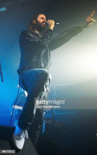 Andrew Wyatt of Miike Snow performs on stage at The Plug on February 6 2010 in Sheffield England