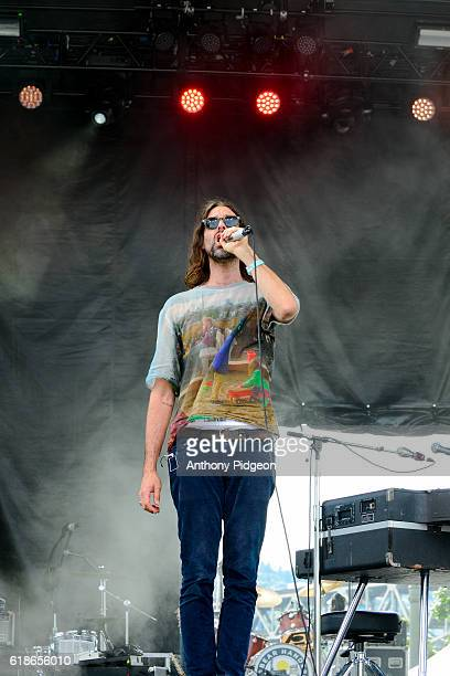Andrew Wyatt of Miike Snow performs onstage at the 94/7 FM Birthday Bash at OMSI Portland Oregon USA on 13th August 2016