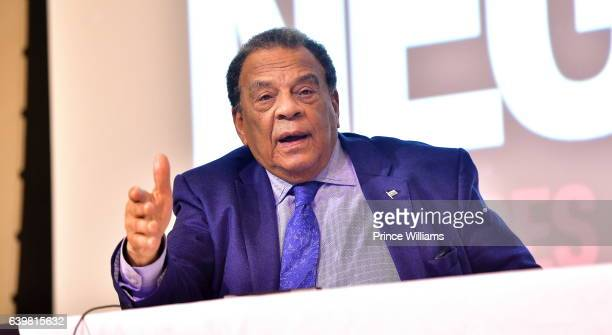 Andrew Young attends 'I Am Not Your Negro' Atlanta Screening at Morehouse College on January 23 2017 in Atlanta Georgia