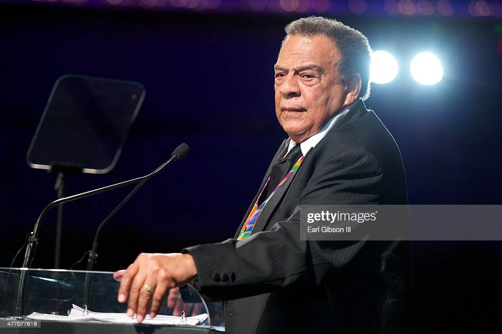 Andrew Young is given the UNCF Lifetime Achievement Award at the 'UNCF Lighting The Way To Better Futures' Dinner at New York Hilton on March 7, 2014 in New York City.