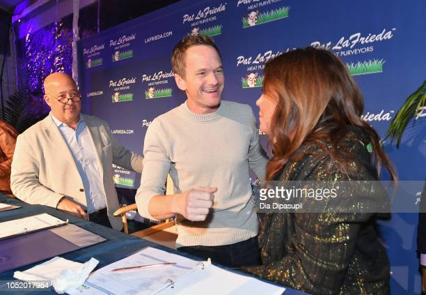 Andrew Zimmern Neil Patrick Harris and Rachael Ray attend the Food Network Cooking Channel New York City Wine Food Festival presented by Capital One...