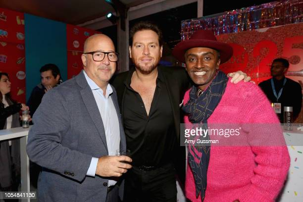 Andrew Zimmern Scott Conant and Marcus Samuelsson attend Food Network's 25th Birthday Party Celebration at the 11th annual New York City Wine Food...