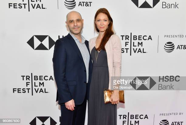Andrew Zolot and Elise Evans attend the screening of All These Small Moments during the 2018 Tribeca Film Festival at SVA Theatre on April 24 2018 in...