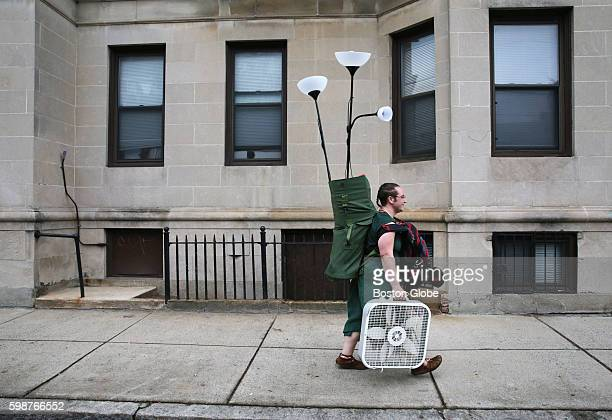 AndrewAmanda LeighBullard a first year graduate student at Boston University searches for apartment items on Redesdale Street in Allston on September...