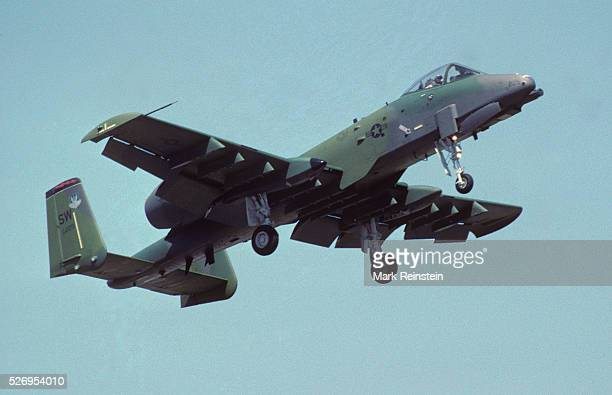 Andrews Air Force Base Md May 1993 A Fairchild Republic A10 Thunderbolt II flies over head during the annual Open House at Andrews Air Force base...