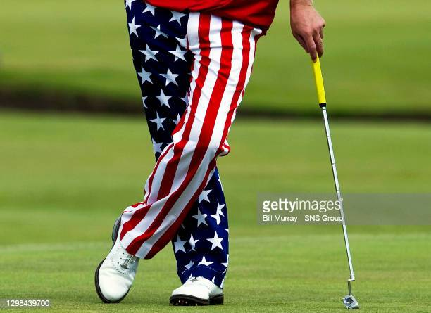 America's John Daly sports a loud pair of trousers