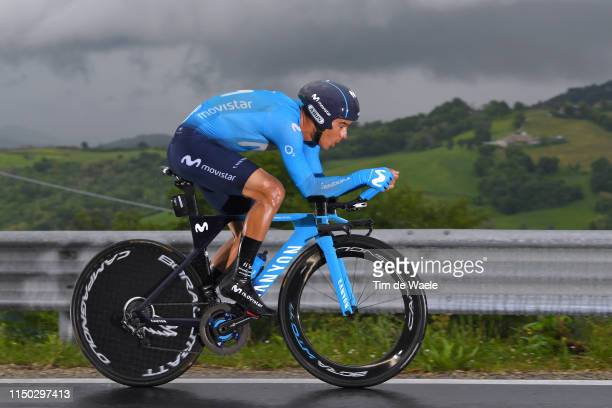 Andrey Amador Bikkazakova of Costa Rica and Movistar Team / during the 102nd Giro d'Italia 2019 Stage 9 a 348km Individual Time Trial from Riccione...