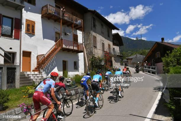 Andrey Amador Bikkazakova of Costa Rica and Movistar Team / Fausto Masnada of Italy and Team Androni Giocattoli Sidermec / Pello Bilbao of Spain and...