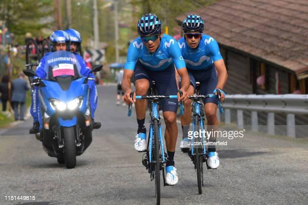 Andrey Amador Bikkazakova of Costa Rica and Movistar Team / Mikel Landa Meana of Spain and Movistar Team / during the 102nd Giro d'Italia 2019 Stage...