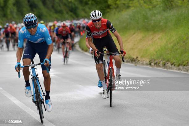 Andrey Amador Bikkazakova of Costa Rica and Movistar Team / Nicola Conci of Italy and Team Trek Segafredo / during the 102nd Giro d'Italia 2019 Stage...