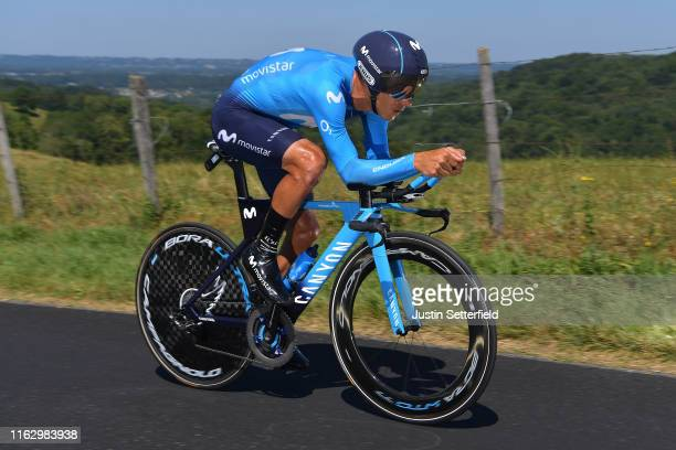 Andrey Amador of Costa Rica and Movistar Team / during the 106th Tour de France 2019 Stage 13 a 272km Individual Time Trial Stage from Pau to Pau /...