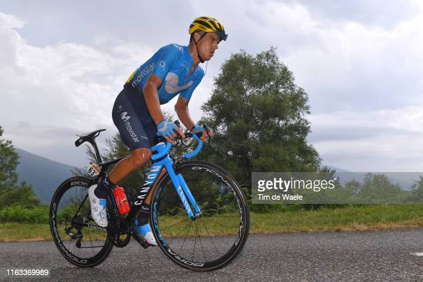 Andrey Amador of Costa Rica and Movistar Team / during the 106th Tour de France 2019, Stage 15 a 185 km stage from Limoux to Foix Prat d'Albis 1205m...