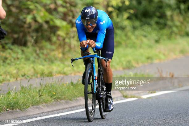 Andrey Amador of Costa Rica and Movistar Team / during the 16th Tour of Britain 2019, Stage 6 a 14,4km stage from Pershore to Pershore / ITT /...
