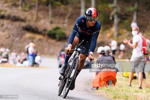 Andrey Amador of Costa Rica - Team Ineos Granadiers during his Individual Time-Trial of Stage 20 on September 19, 2020 in Plancher Bas, France.