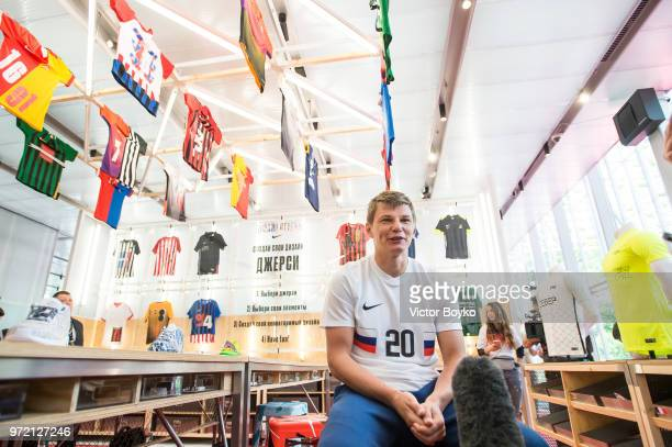 Andrey Arshavin attends the opening of Box MSK at Gorky Park on June 12 2018 in Moscow Russia Brazil football icon Ronaldo and Russia legend Andrey...