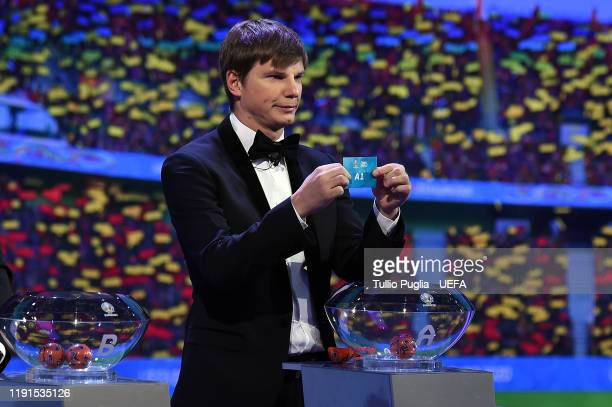 Andrey Arshavin attends the UEFA Euro 2020 Final Draw Ceremony on November 30, 2019 in Bucharest, Romania.