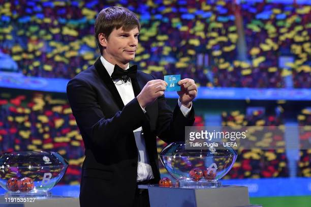 Andrey Arshavin attends the UEFA Euro 2020 Final Draw Ceremony on November 30 2019 in Bucharest Romania