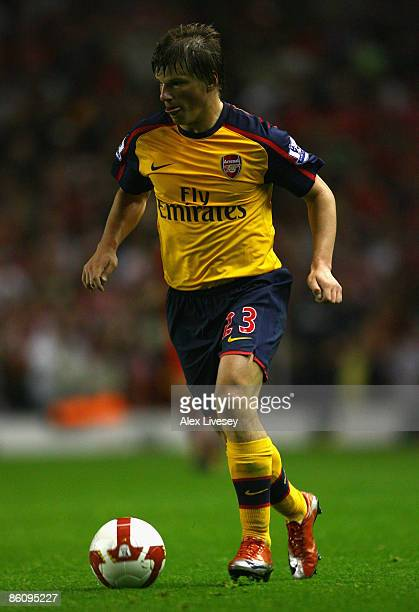Andrey Arshavin of Arsenal in action during the Barclays Premier League match between Liverpool and Arsenal at Anfield on April 21 2009 in Liverpool...