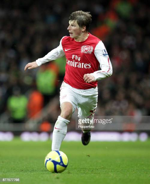 Andrey Arshavin of Arsenal in action during the FA Cup 3rd Round match between Arsenal and Leeds United at the Emirates Stadium on January 09 2012 in...