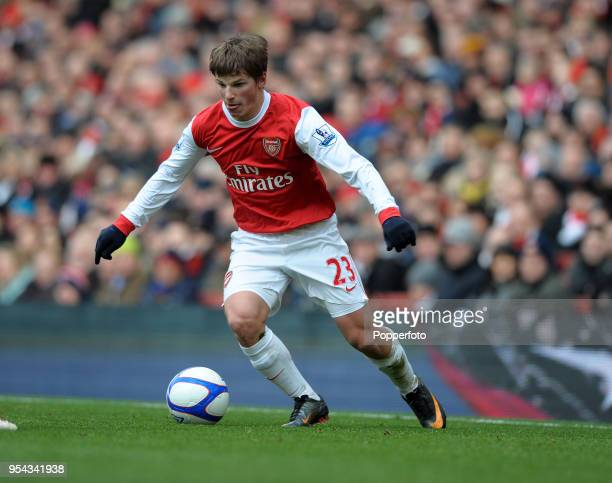 Andrey Arshavin of Arsenal in action during the FA Cup sponsored by EON 4th round match between Arsenal and Huddersfield Town at The Emirates Stadium...
