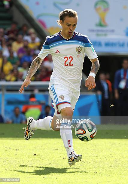 Andrey Eshchenko of Russia in action during the 2014 FIFA World Cup Brazil Group H match between Belgium and Russia at Maracana on June 22 2014 in...
